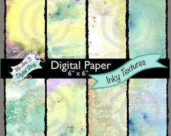 We Are 3 Digital Paper - Inky Textures, Fairy, Fantasy