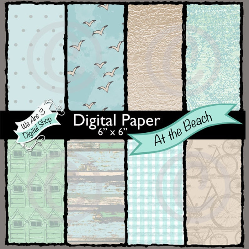 We Are 3 Digital Paper At the Beach image 0