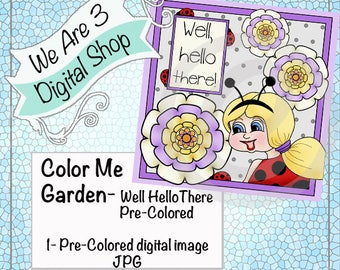 We Are 3 Digital Shop - Well Hello There Pre-Colored Printable