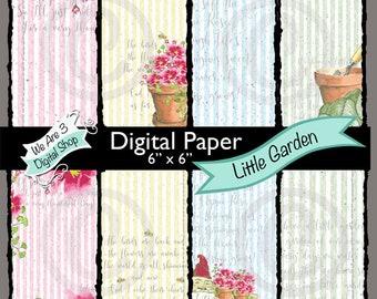 We Are 3 Digital Paper, Little Garden