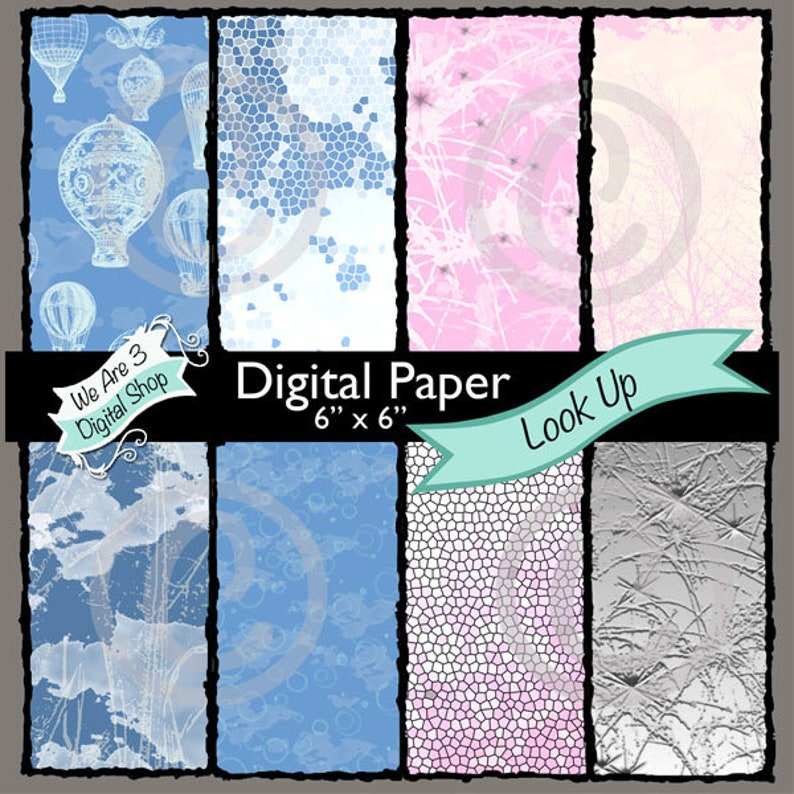 We Are 3 Digital Paper Look Up image 0