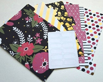 A5 Planner Dividers, Set of 6