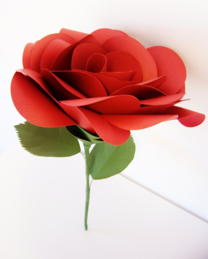 Large Red Paper Rose