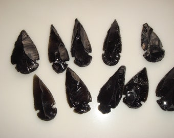 10 Hand Knapped Genuine Obsidian Arrowheads From Mexico Protect Yourself From The Cold Ones GOT
