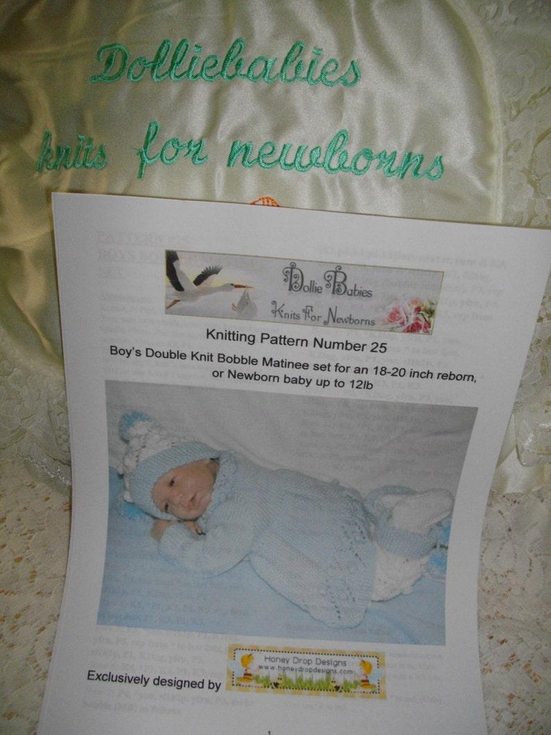 abcf0069067c Knitting PATTERN No.25 Newborn Baby Boy s Bobble Matinee