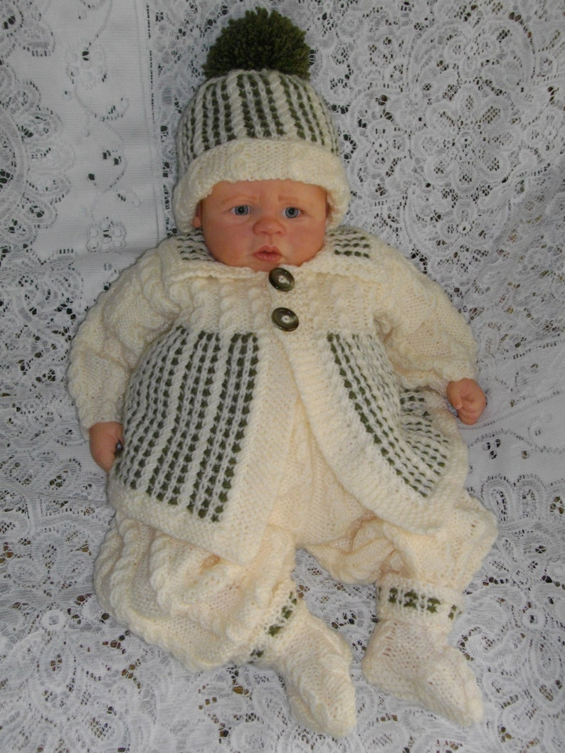 d7ebbd31caec Knitting PATTERN No.21 Newborn Baby Boy or 18-20 Reborn