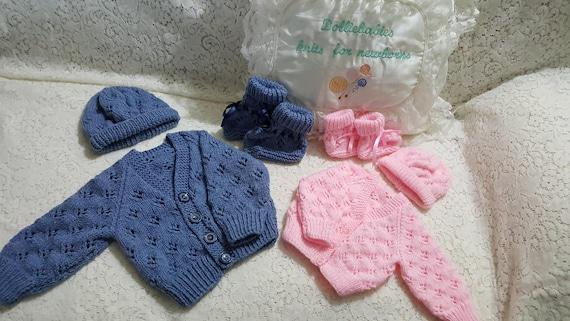 ca9e8dd4dbbf Knitting PATTERN No. 62 Newborn-6 Months Lacy Cardigan Set PDF
