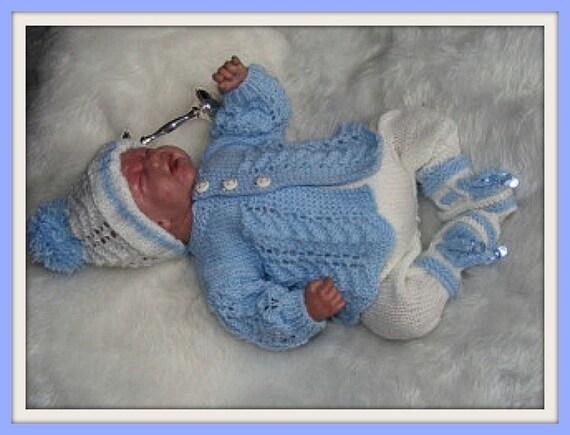 91b2046ea977 Knitting PATTERN No. 4 Premature Boy or 16 inch Reborn