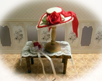 329ff351531 Miniature Silk Hat with Small Flower Bouquet