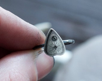 Silver Planchette Ring - Talking Spirit Board - Ouija Jewelry - Witchcraft - Occult - Halloween