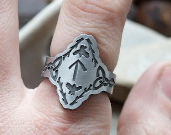 Raven Ring - Viking Ring - Rune Ring - For Women - Celtic Ring - Viking Jewelry - Viking Raven - Norse Jewelry - Huginn and Muninn