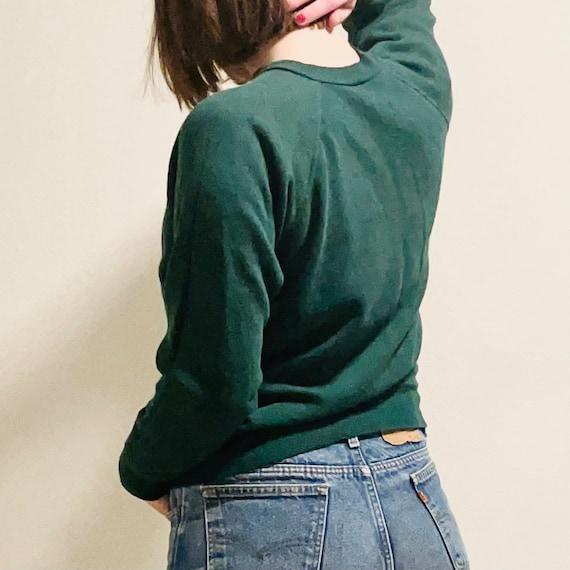 70s Spruce Green Raglan Sweatshirt
