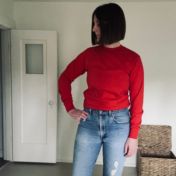 Vintage Red Long Sleeve T-shirt