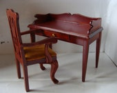Desk, Ladies Writing Desk, With Chair Or Without, Mahogany Piece, One Drawer