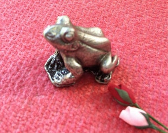 Tiny Frog for Dollhouse, or Collection,  3/4 Inch
