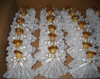 White, Handmade 20 Angels,Set Angel Ornaments, Choice of Basics