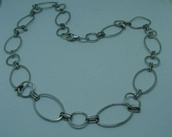 "Large Links Necklace, 22"" Length"