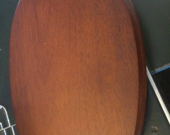 Walnut Oval Base for Accent, 8.5 Inches, Protects Table Tops, Enhances Porcelains, Sculptures, Busts