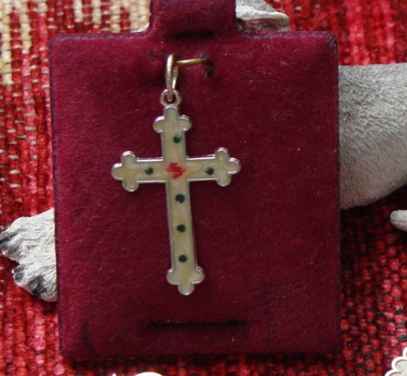 Enameled Cross Seasonal CharmPendant by Beaucraft