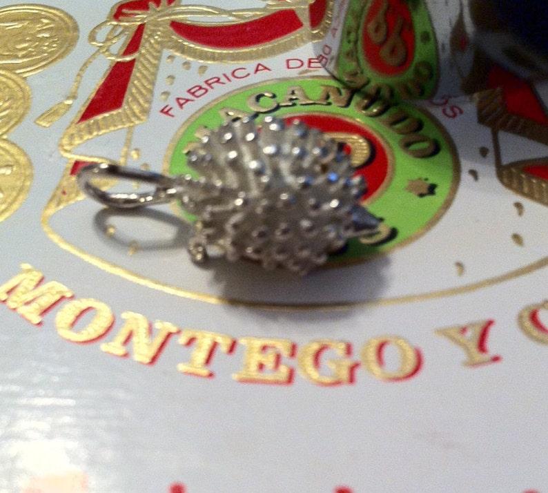 Cute Animal Pendant Hedgehog Silver Charm or Pendant