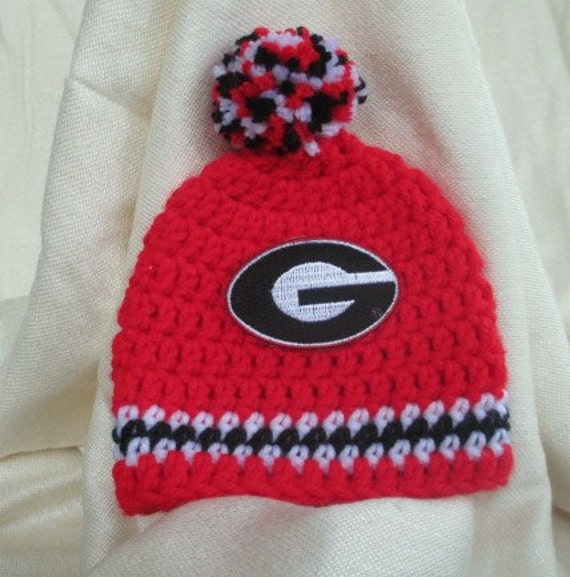 8ed4da3848a University of Georgia Crochet Hat Boys or Girls