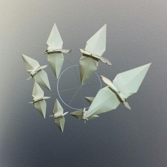 Origami crane mobile | Etsy | 570x570