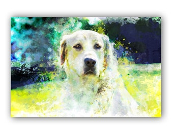 Custom Abstract Paint Pet Portrait ~ MADE TO ORDER Dog Portrait ~ Unique Contemporary Art