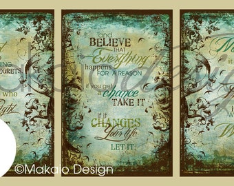 "Life Is Too Short..."" Set of 3 12x18 Canvas Gallery Wraps"