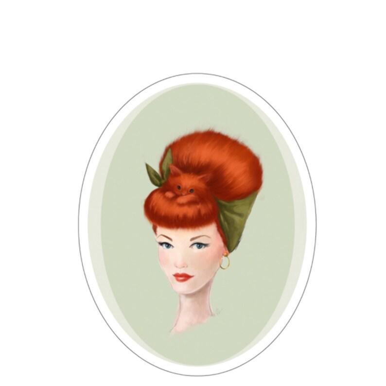 Pinup Girls Sticker ARIEL by Chickenrittle