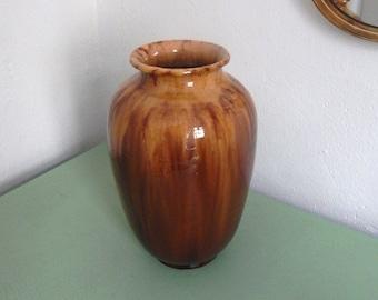 Caramell Coloured Vintage Vase  - Glazed