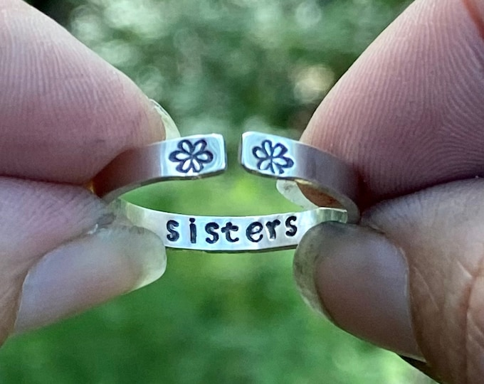 Sisters Sterling Silver Ring