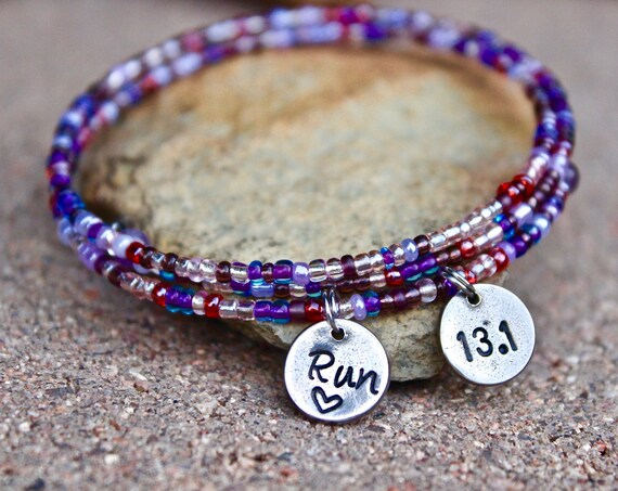 Runner Beaded Wrap Bangle