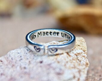 No Matter What Mantra Ring