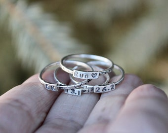 Gift for Runner, Runner Ring, Marathon Jewelry, 5K Ring, Marathon Ring, Half Marathon Ring, 10K Ring, Rings for Runners, Gifts for Runners