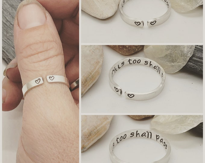 Sterling Silver This too Shall Pass Inspirational Ring