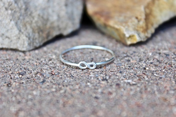 Tiny Infinity Ring in Sterling Silver