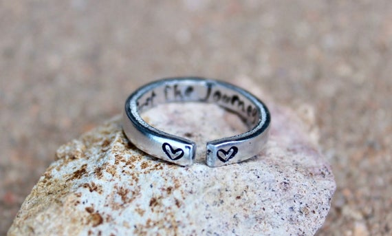 Trust the Journey Ring, Stackable adjustable ring, Trust the Journey, Mantra Ring, Trust the Journey Ring, Stacking Ring, adjustable mantra