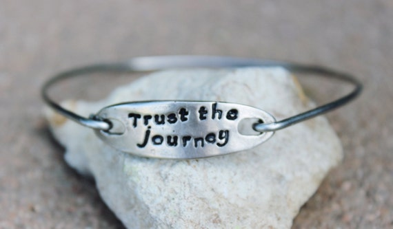 Trust the journey Mantra Bangle