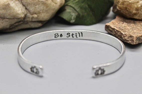 Lotus Be Still Bangle Bracelet