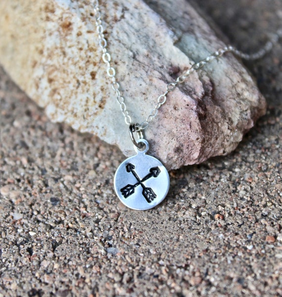 Crossing Arrows Charm Necklace