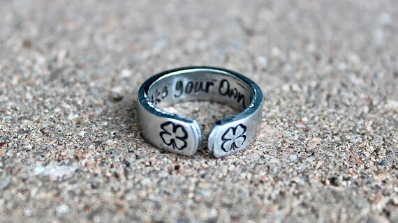 Make Your Own Luck Clover Ring