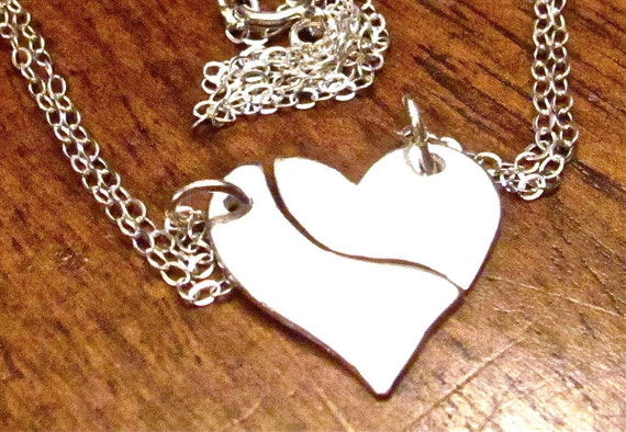Mother Daughter Necklace, Heart Puzzle Necklace, Two Necklaces, Mother Daughter Jewelry, Mother Daughter Charms, Mom Daughter Puzzle Charms