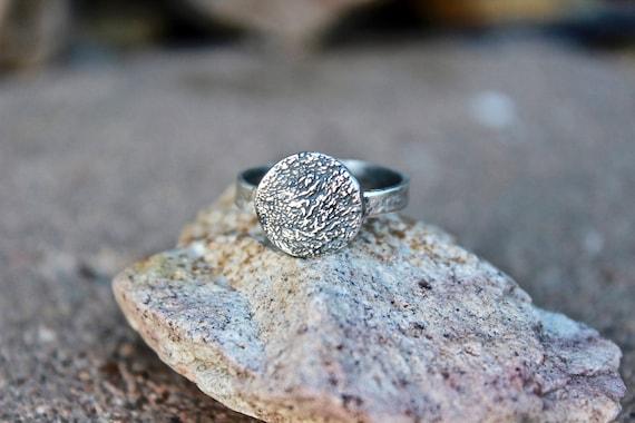 Pawprint Ring, Paw Print, Actual Paw Print Ring, Paw Print Ring, Paw Print Impression Ring, Sterling Silver Paw, Print Ring, Real Pawprint