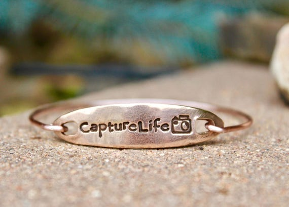 Capture Life Rose Gold Bangle Bracelet
