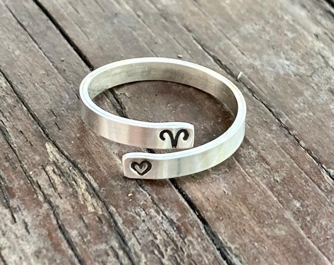 Zodiac Sign Wrap Ring