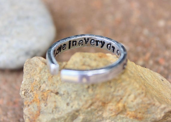 Breastfeeding Reminder Ring - Left/Right flip Ring for Next Side - Love in Every Drop stamped on inside - Nursing Reminder Ring Gift for Mom