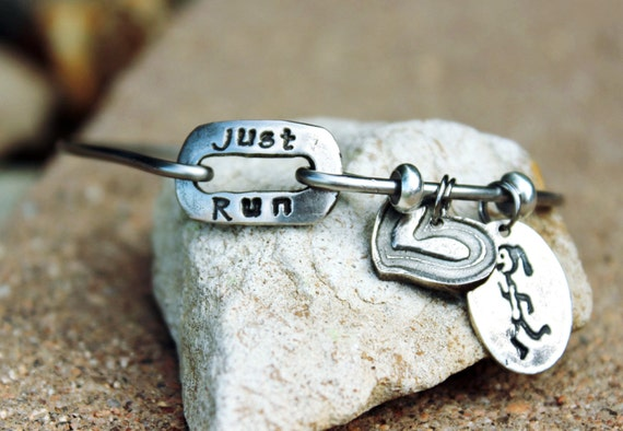 Just Run - Bangle Bracelet for Runners