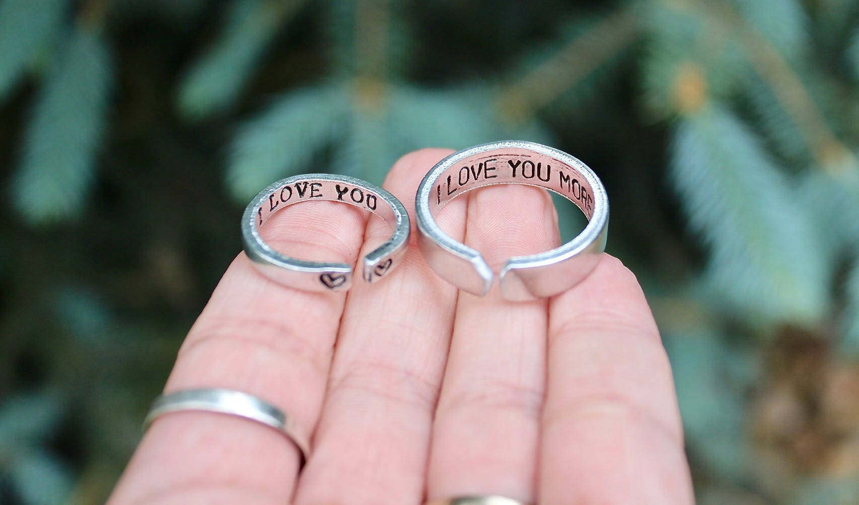 Couple Rings, Rings for Boyfriend and Girlfriend, I love you, I love ...