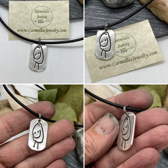 Artwork Charm, Your Child's Drawing Charm, Kid's artwork, Gift for Mom or Dad, Child's Real Drawing Sterling Silver Charm, Father's Day Gift