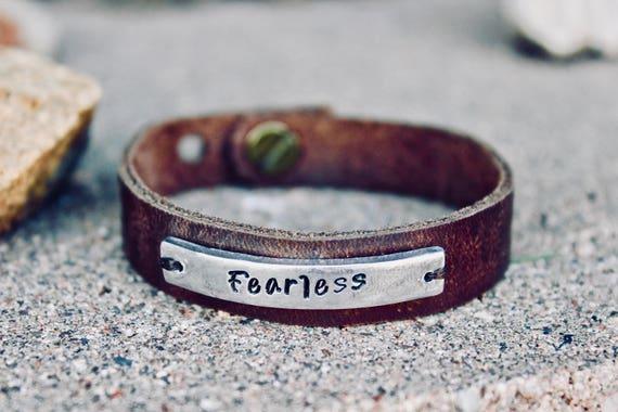 Leather Fearless Bracelet